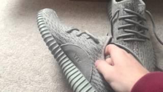 getlinkyoutube.com-Adidas Yeezy Boost 350 from soleyeezy review moonrock Kanye West