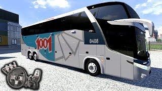 getlinkyoutube.com-Euro Truck Simulator 2 - Viagem de boa  - Auto Viação 1001 - Paradiso G7 - Com Logitech G27
