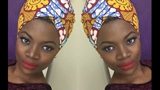 getlinkyoutube.com-Easy African Headwrap Tutorial.