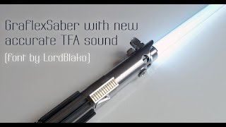 getlinkyoutube.com-Graflex Saber with NEW TFA sound (font by LordBlako)