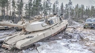 getlinkyoutube.com-This Vehicle Can Free A Stuck M1 Abrams Tank