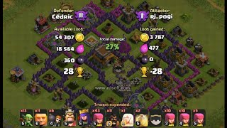 Clash of Clans TH8 TROLL Base for CRYSTAL League Replays!!!