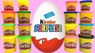 getlinkyoutube.com-Play Doh & Surprise eggs stop motion animation Peppa pig Spongebob Pocoyo