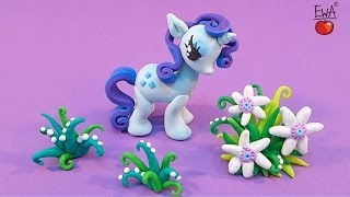 getlinkyoutube.com-RARITY tutorial - polymer clay - My Little Pony