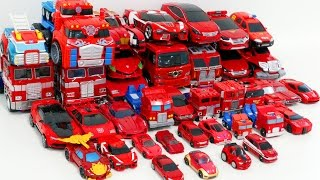 getlinkyoutube.com-Red Color Transformers HelloCarbot Tobot Miniforce 40 Vehicle Transformation Robot Car Toys