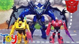 getlinkyoutube.com-트랜스포머4 쇼다운 리젼드 배틀씬 팩 범블비,스팅어,스트레이프 피규어 장난감 리뷰 transformers 4 bumblebee ,stinger,strafe