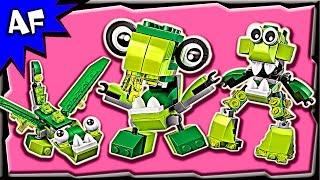 getlinkyoutube.com-Lego Mixels GLORP CORP Series 6 Dribbal, Gurggle, Slusho Build Review 41548, 41549, 41550