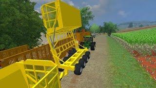 getlinkyoutube.com-Transbordo de Cana Picada - Farming simulator 2013