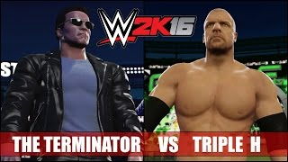 getlinkyoutube.com-WWE 2K16 (PS4): The Terminator (T2) vs Triple H - Extreme Rules Wrestlemania Match Gameplay