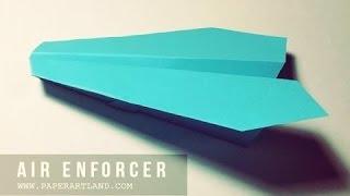 Wie man einen Papierflieger zu machen - Beste Origami Flugzeug | Air Enforcer