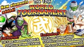 getlinkyoutube.com-The 12th World Tournament: Best Team Builds: 20x Ambition Difficulty! DBZ Dokkan Battle