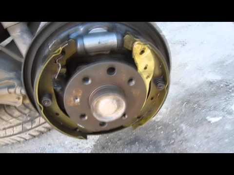 Замена колодок и цилиндра Опель Астра Opel Astra Kadett