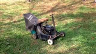 getlinkyoutube.com-Home made mini riding mower 5.5 HP