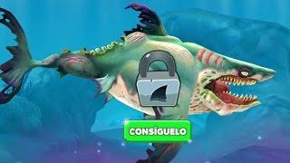 getlinkyoutube.com-Hungry Shark World Desbloqueando al Nuevo Tiburón Zombi