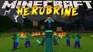 getlinkyoutube.com-Minecraft : Herobrine Boss Battle Challenge! 'Random Bosses'