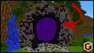 getlinkyoutube.com-How To Make Custom Minecraft Nether Portals!