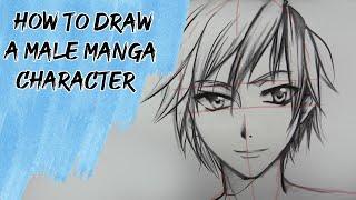 getlinkyoutube.com-How to draw a male Manga character - Slow Tutorial