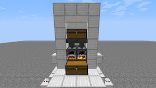 getlinkyoutube.com-Minecraft 木炭循環機能付き 全自動かまど