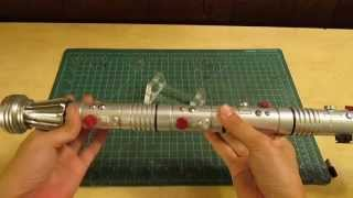 "getlinkyoutube.com-ArkLight Arsenal -- ""Laceratus"" Darth Maul Lightsaber CFv6.5 Epic Reveal by Goodman"