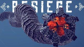 getlinkyoutube.com-Besiege Best Creations - GIANT MECHANICAL WORM, Working Clock, Bird-Like Plane