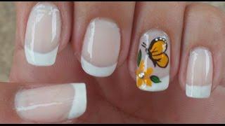 getlinkyoutube.com-Unhas decoradas passo a passo Borboleta Manual Bela e Simples Nail Art