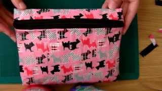 getlinkyoutube.com-Tutorial: Duct Tape Pencil Case (with zip)
