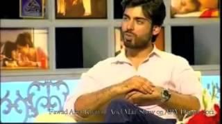 """getlinkyoutube.com-Fawad Khan in """"Ariel Maa"""" Show on Ary Digital, 2012"""