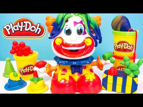 Play Doh Clown Playset Playdough Funny Clown Plastilina Plasticine Hasbro Toys