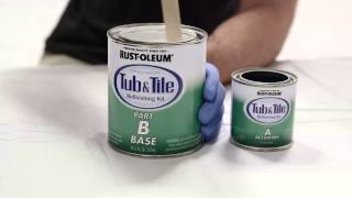 getlinkyoutube.com-How to Video: How To Refinish your Bathroom Tub and Tile