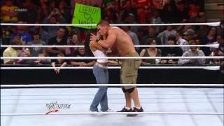 AJ kisses John Cena