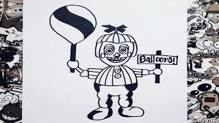 getlinkyoutube.com-Como dibujar a balloon boy de five nights at freddy's | how to draw balloon boy