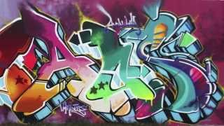 GRAFFITI WALL / SANTO - SEL - CAOS ANDALUCIA VANDALS / MUSIC BY COSA.V