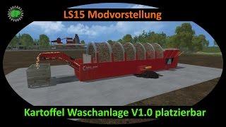 getlinkyoutube.com-LS15 Modvorstellung - Futterkette 1/3 - Kartoffel Waschanlage V1.0 platzierbar