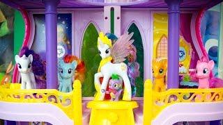 getlinkyoutube.com-My Little Pony Toys Princess Celestia Canterlot Castle MLP Playset Kinder Playtime