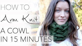 getlinkyoutube.com-How to Arm Knit a Cowl in 15 Minutes - with Simply Maggie