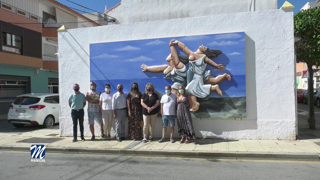 El área de Embellecimiento inaugura un nuevo mural en Sabinillas