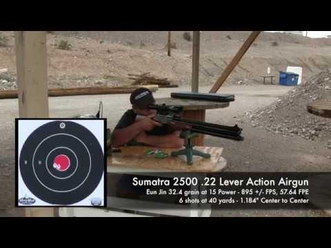 Sumatra 2500 .22 Pellet testing, dialing in the power - by Rick Eutsler / AirgunWeb
