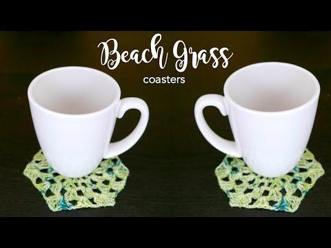 How To Crochet The Beach Grass Coaster, Episode 417