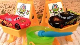 getlinkyoutube.com-Cars Color Changers Slide N Surprise Playground Playset Water Toys Disney Pixar CARS2 Blucollection