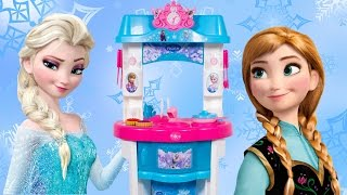 getlinkyoutube.com-❤ FROZEN Kitchen Toy Smoby ❤ Toy Cutting Food Frozen Mini Kitchen Frozen Küche Cocinita Toy Food
