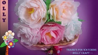 getlinkyoutube.com-How To Make Tissue Paper Flowers : Shabby Chic Peonies
