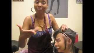 getlinkyoutube.com-White girl gets a full sew-in weave with closure at Hair Escapades