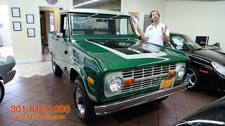 1971 Ford Bronco Half Cab 4X4 for sale with test drive, driving sounds, and walk through video