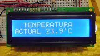 Sensor de temperatura con el LM35 y  el PIC 16F877a.