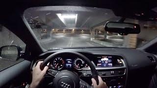 getlinkyoutube.com-2015 Audi A5 2.0T Coupe (6MT) - WR TV POV Night Drive