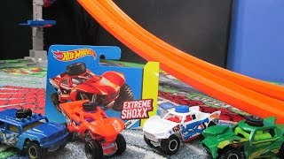 getlinkyoutube.com-Hot Wheels Extreme Shoxx Product Review And Track Testing
