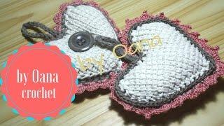 getlinkyoutube.com-Tunisian crochet heart shabby chic  by Oana
