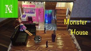 getlinkyoutube.com-Как сделать дом и мебель для кукол. Monster House своими руками (часть 2)