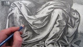 getlinkyoutube.com-How To Draw Fabric Folds: Drawing based on Leonardo da Vinci