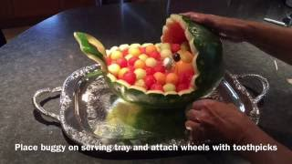 getlinkyoutube.com-How to make this cute WATERMELON  BUGGY with WATERMELON WHEELS